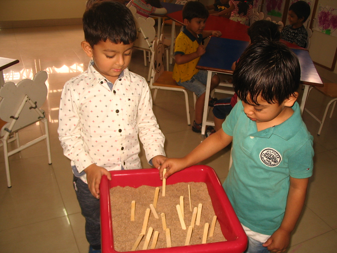 FINE MOTOR, EYE HAND COORDINATION AND COGNITIVE SKILLS- LEARNING STANDING LINE