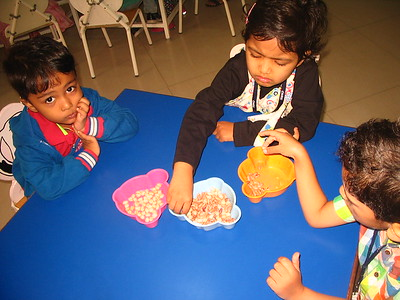 DEVELOPING FINE MOTOR, COGNITIVE AND SENSORIAL SKILLS- SORTING OF SEEDS (2)