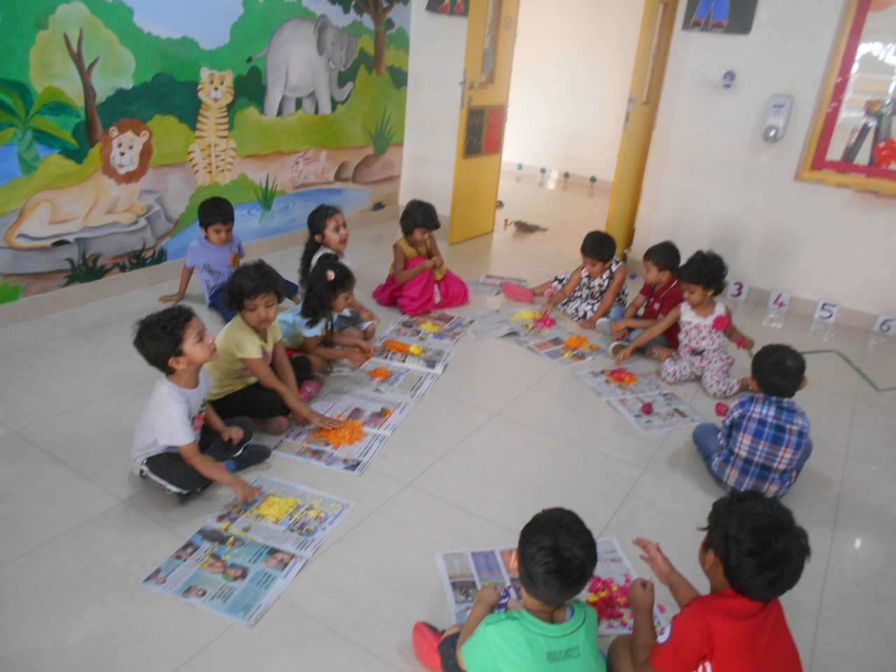 FINE MOTOR SKILLS AND SENSORIAL SKILLS- PREPARATIONS FOR RANGOLI (2)