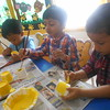 PAINTING ACTIVITY-YELLOW PAPER CUP FLOWER (8)