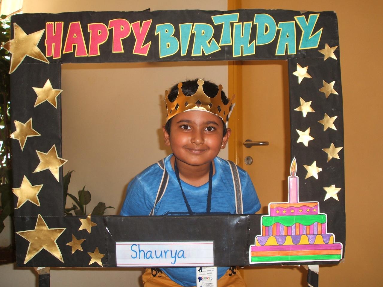 HAPPY BIRTHDAY-SHAURYA