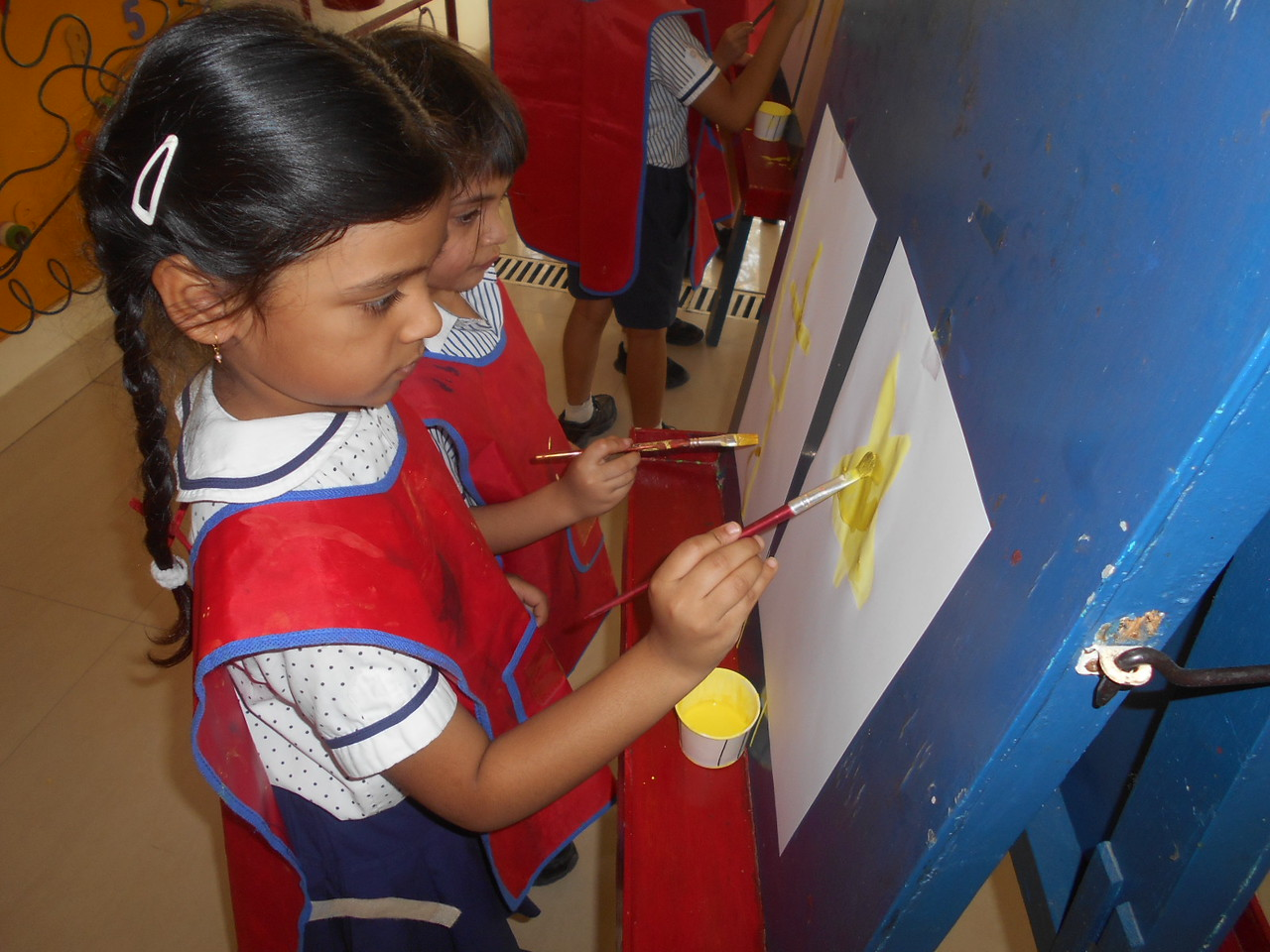 FREE HAND PAINTING BY CHILDREN