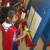 CHILDREN DOING FREE HAND PAINTING ON THE EASEL BOARD1