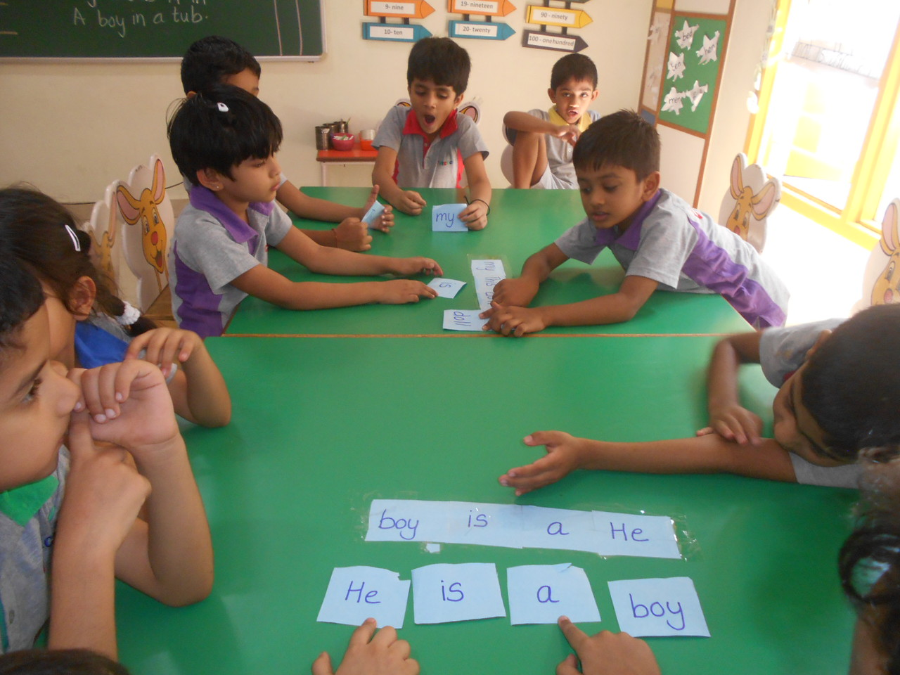 DEVELOPING LITERACY SKILLS - RE-ARRANGING WORDS TO FORM A CORRECT SENTENCE (1)