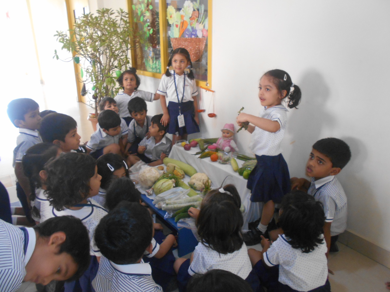 ROLE PLAY AS VEGETABLE SELLERS