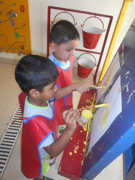 DEVELOPING CREATIVE, FINE MOTOR AND SOCIAL SKILLS THROUGH PAINTING ACTIVITY (5)