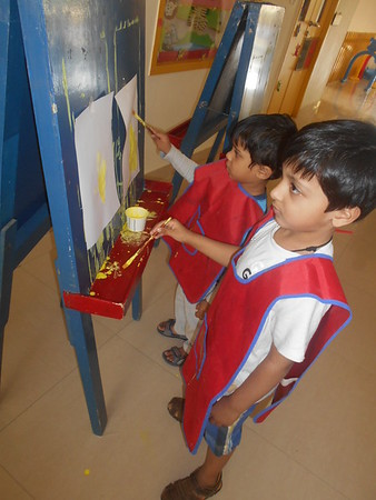 DEVELOPING CREATIVE, FINE MOTOR AND SOCIAL SKILLS THROUGH PAINTING ACTIVITY (6)