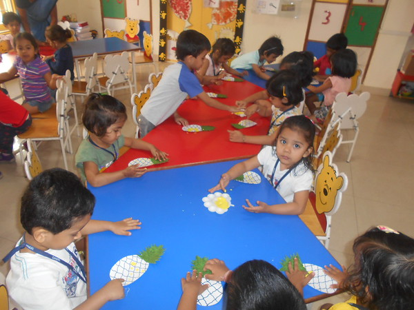 DEVELOPING CREATIVE, FINE MOTOR AND SOCIAL SKILLS- CRAFT ACTIVITY ON PINEAPPLE
