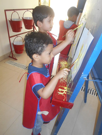 DEVELOPING CREATIVE, FINE MOTOR AND SOCIAL SKILLS THROUGH PAINTING ACTIVITY (4)