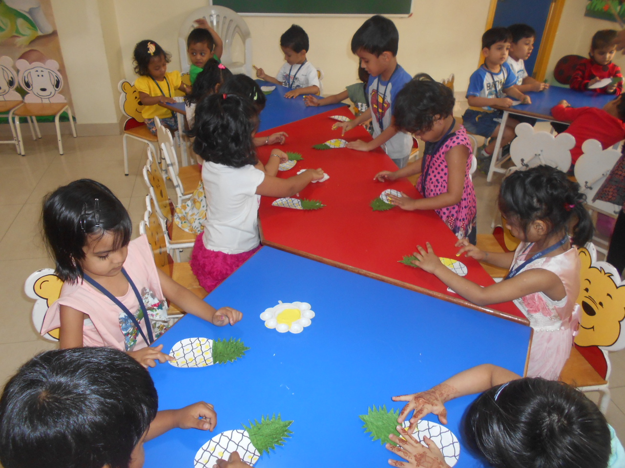 DEVELOPING CREATIVE, FINE MOTOR AND SOCIAL SKILLS- CRAFT ACTIVITY ON PINEAPPLE (2)
