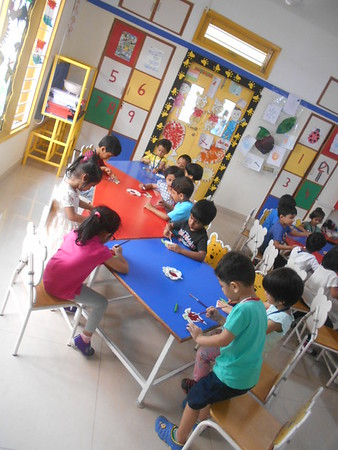 DEVELOPING CREATIVE, FINE MOTOR AND SOCIAL SKILLS- PAINTING ACTIVITY