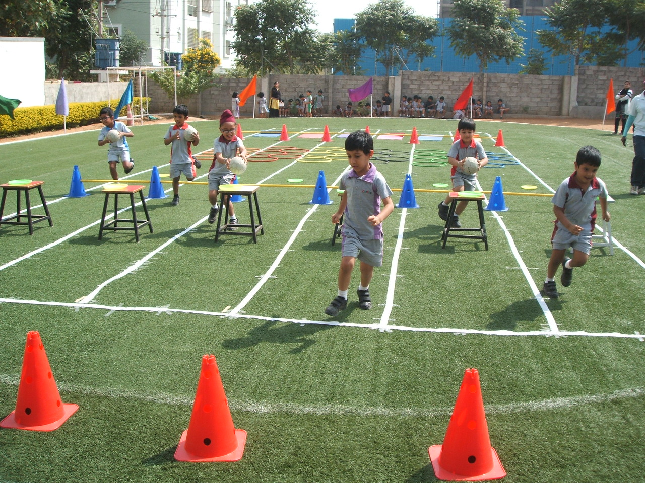 BOOTS AT THEIR BEST DURING SPORTS MEET IN GACHIBOWLI CAMPUS