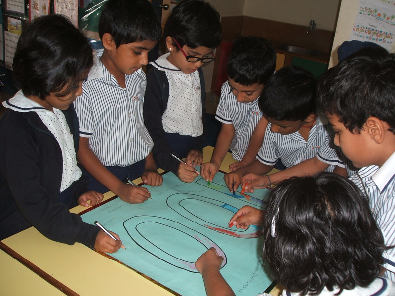 DEVELOPING NUMEARACY SKILLS- GROUP WORK ON  COMPLETION OF NUMBER NAME