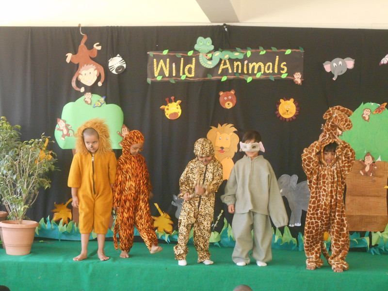 DEVELOPING LANGUAGE AND PRESENTATION SKILLS DURING ASSEMBLY TIME  (TOPIC- WILD ANIMALS)