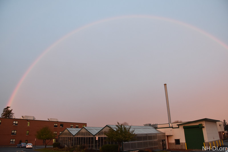 A double rainbow greeted those coming to training this morning!