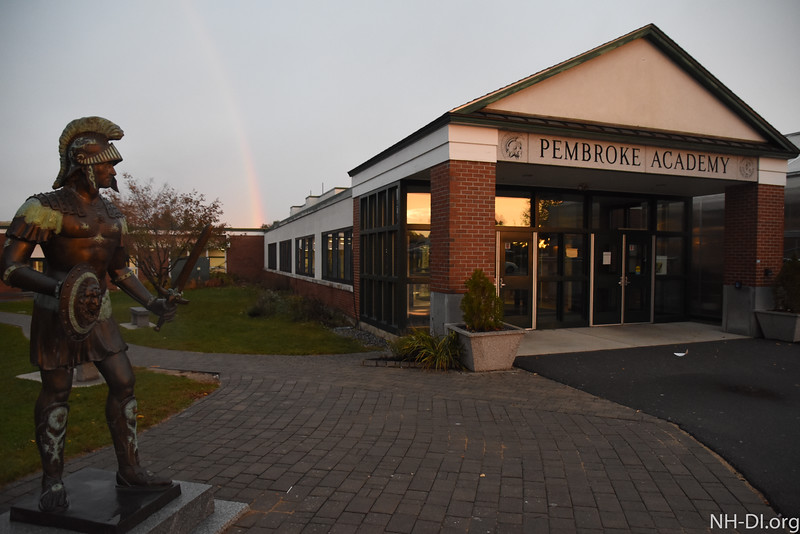 The rainbow over Pembroke Academy for Training Day!