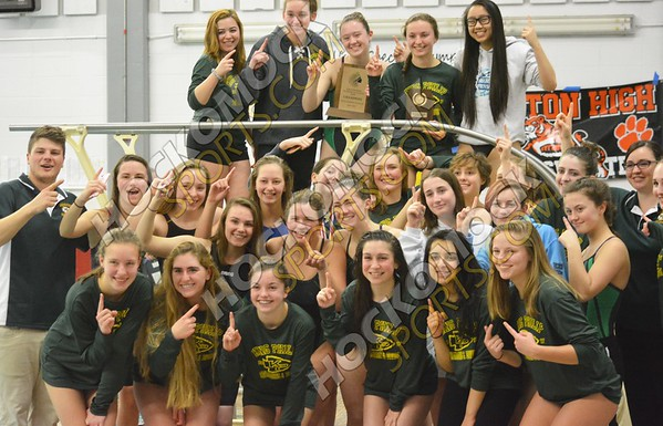 Hockomock Girls Swim Championships 2-4-17