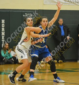 Mansfield - Attleboro Girls Basketball MIAA Playoff 3-2-17