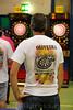 25.06.2016 - Dart Ligaspiele in der Stadthalle in Olten - Geschicklichkeitsspiel bzw. ein Präzisionssport , bei dem mit Pfeilen ( den Darts ) auf eine runde Scheibe ( die Dartscheibe ) geworfen wird - Mann trägt ein T - Shirt mit der Aufschrift Oliveira © Patrick Lüthy/IMAGOpress.com