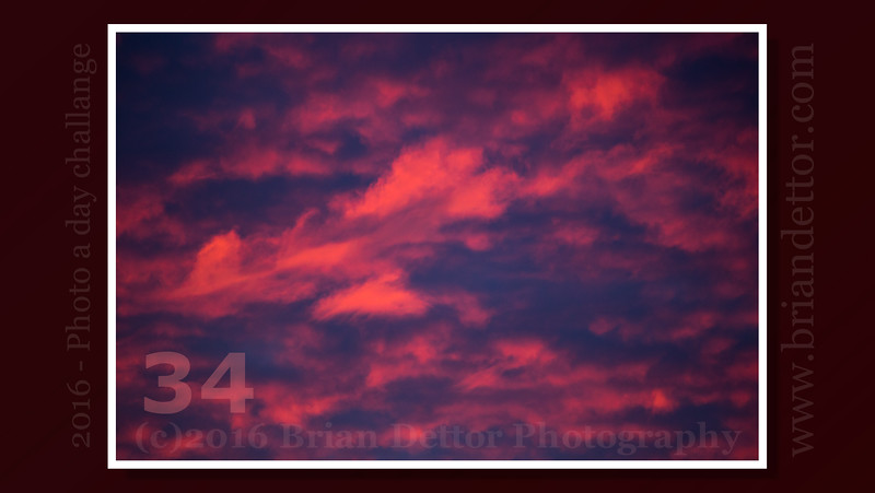 Day #34 - Sunrise Clouds