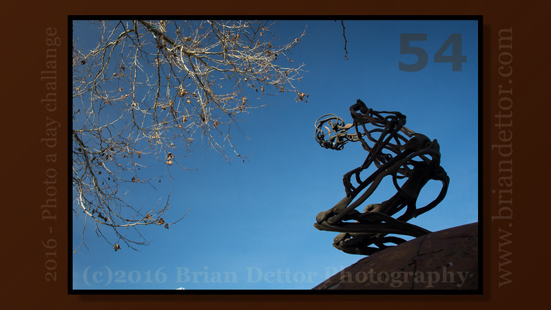 Day #54 - URGE to Stand Sculpture