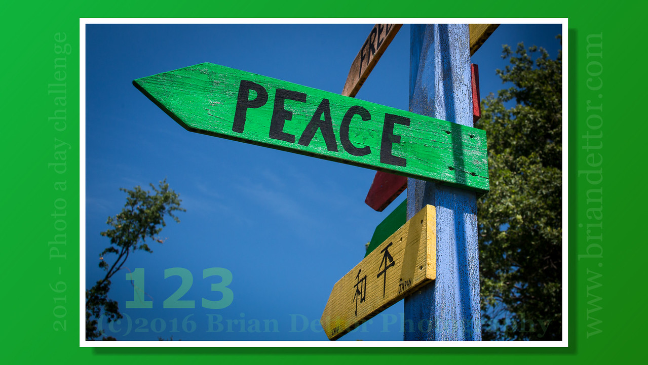 Day #123 - Directions to Peace