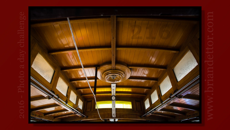 Day #216 - SF Cable Car Interior