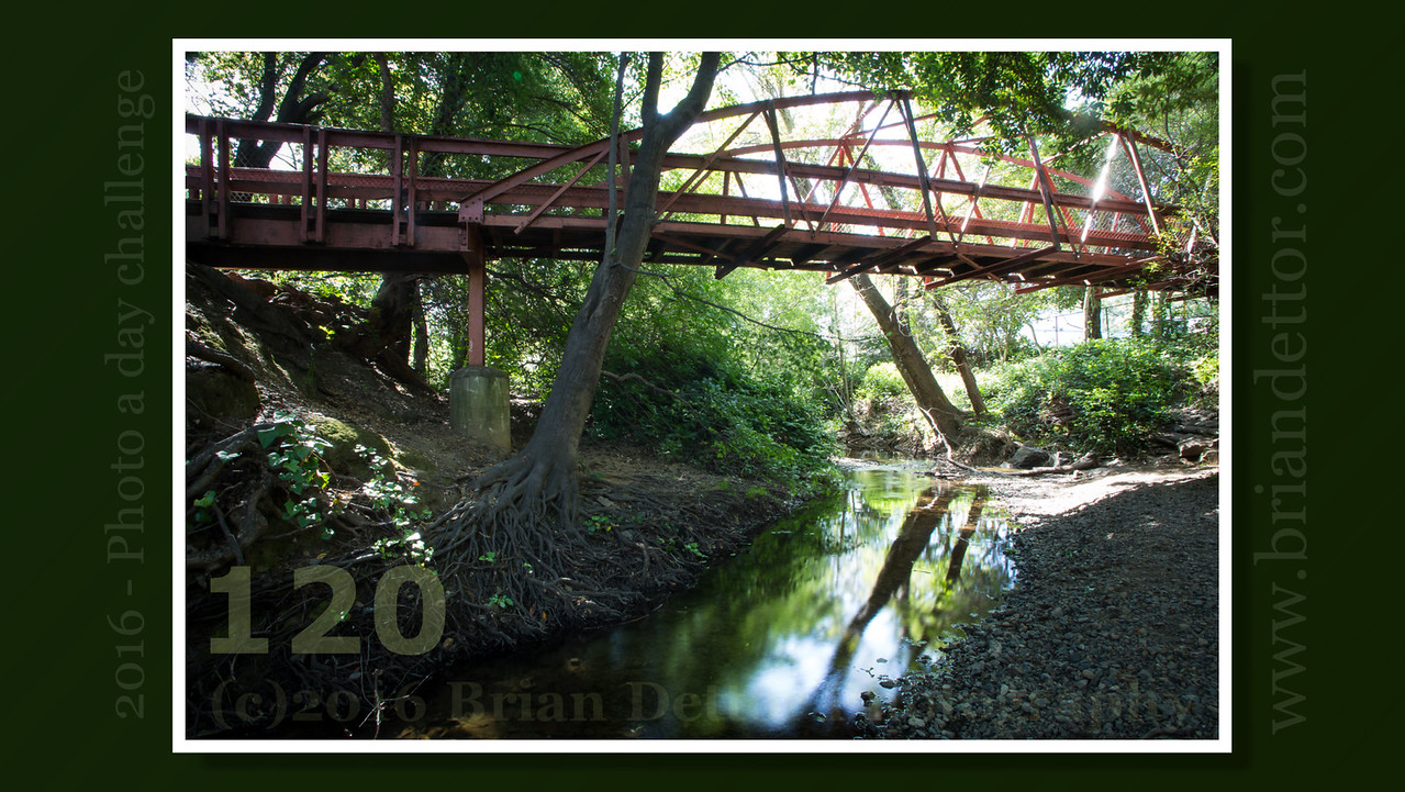 Day #120 - Miller Creek and the Red Bridge