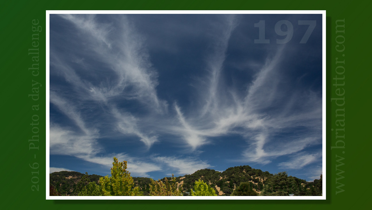 Day #197 - Cirrus Clouds above Big Rock Ridge