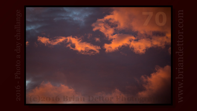 Day #70 - Sunrise Storm Clouds