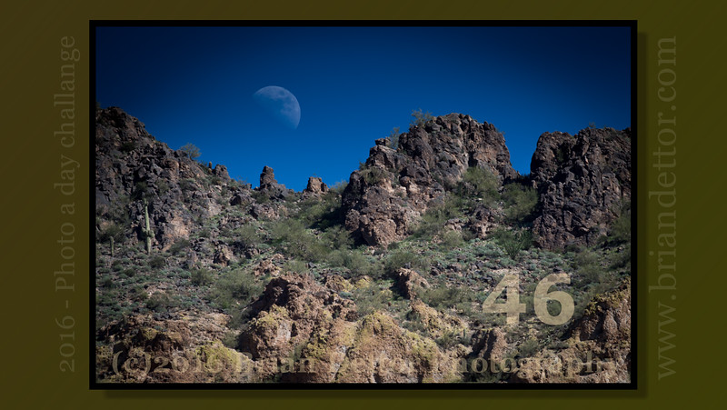 Day #46 - Moonrise at Usery Mountain