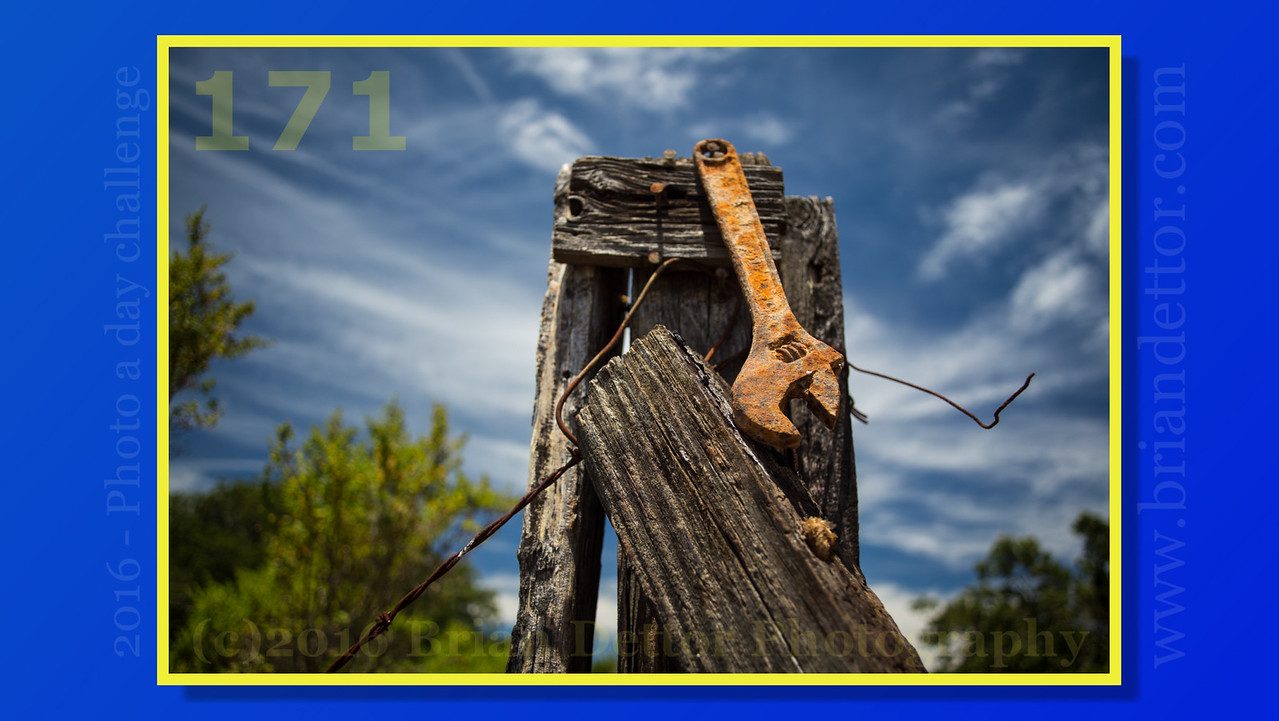 Day #171 - Wrench on a Fence