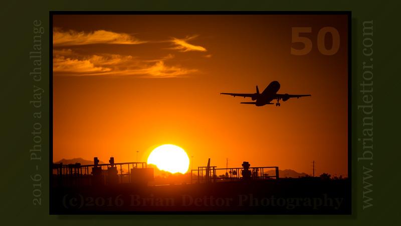 Day #50 - Phoenix Airport Sunset
