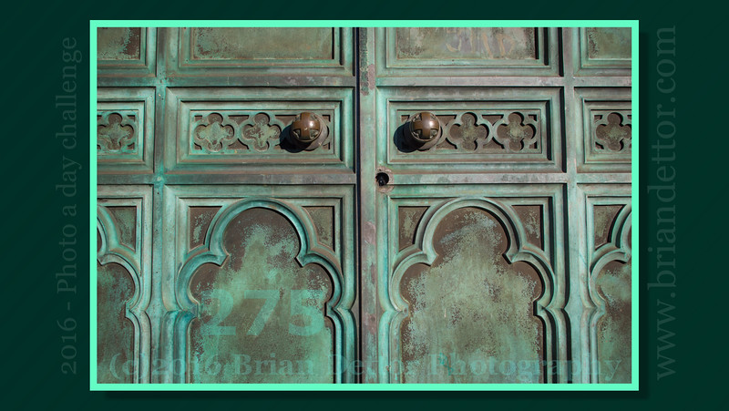 Day #275 - Front Doors of St. Patrick's