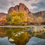 Evening glow along the Salt River