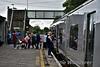 Passengers board the 1005 Ballybrophy - Limerick at Nenagh. Sat 13.08.16