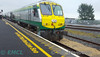 The Belmond Grand Hibernian Trial went to Galway and Westport on Wednesday 17th August 2016. Shortly after arrival the set is propelled out to the Loop for 215 to run around. Wed 18.08.16<br /> <br /> Photo courtesy of EMCL.