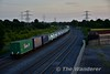 The project to extend freight train lengths continued on Monday 27th June when a 27 bogie (54 TEU's) liner wagon trial operated from North Wall to Ballina. NI Railways Locomotive (8)209 was allocated to the Liner and it departed from North Wall ontime at 2045. The trial train is pictured passing Stacumny Bridge at 2136 heading West.  Mon 27.06.16