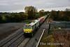 223 at the Iron Bridge, Sallins with the 0935 North Wall - Ballina. Sat 29.10.16