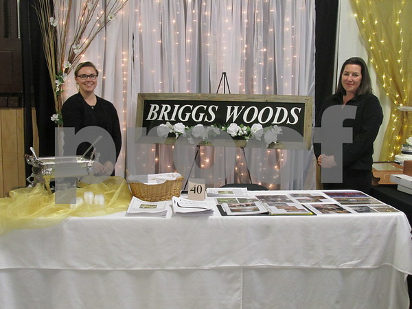 Kelly Haman special events coordinator with Briggs Woods (left)
