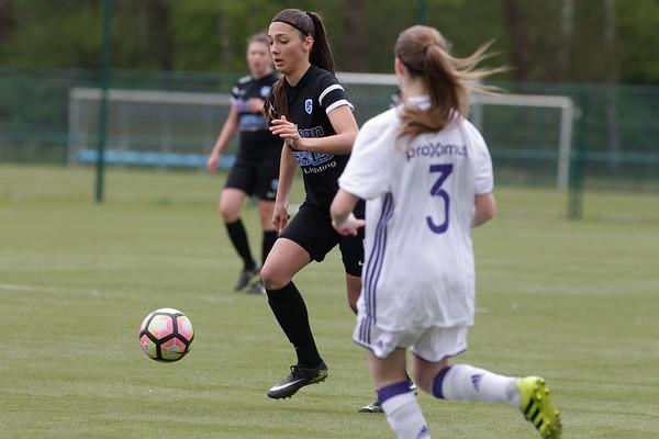 2017-04-22 - GENK - KRC Genk Ladies ll - Anderlecht lll - Amber Tysiak - Estelle Peron