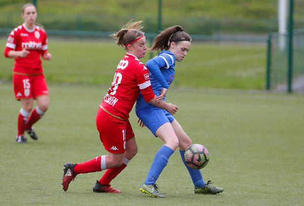 2017-04-22 - GENK - KRC Genk Ladies - Standard Liege -  Fien Steyvers - Davinia Vanmechelen