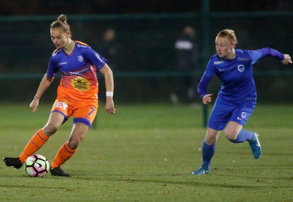 Margaux van Ackere of KAA Gent Ladies - Silke Leynen of KRC Genk Ladies