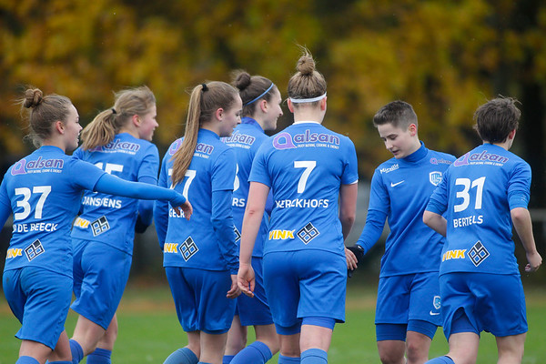 KRC Genk Ladies Beloften -  ASE De Chastre - Illustratie