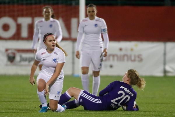 RSA Anderlecht - KRC Genk Ladies - Davinia Vanmechelen of KRC Genk Ladies