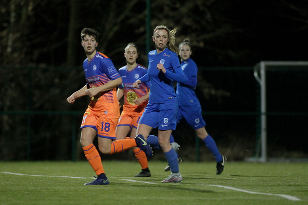 20-03-2018 - Genk - KRC Genk Ladies - KAA Gent Ladies - Nadine Hanssen of KRC Genk Ladies - Isabelle Illano of KAA Gent Ladies