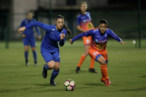 20-03-2018 - Genk - KRC Genk Ladies - KAA Gent Ladies - Amber Tysiak of KRC Genk Ladies - Mariam Toloba of KAA Gent Ladies