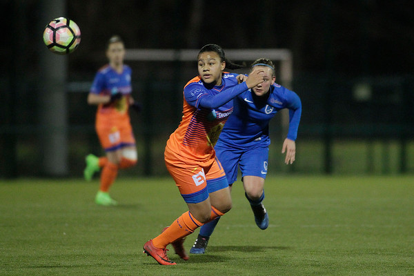 20-03-2018 - Genk - KRC Genk Ladies - KAA Gent Ladies - Sharon Zagar of KRC Genk Ladies - Mariam Toloba of KAA Gent Ladies
