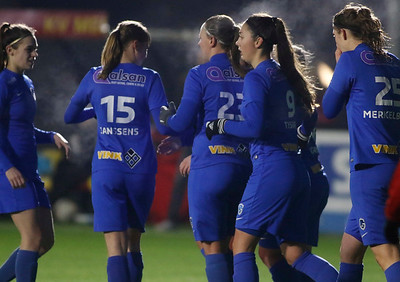 20180120 - KV Mechelen - KRC Genk Ladies Beloften - Janne Geers of KRC Genk Ladies - Amber Tysiak of KRC Genk Ladies