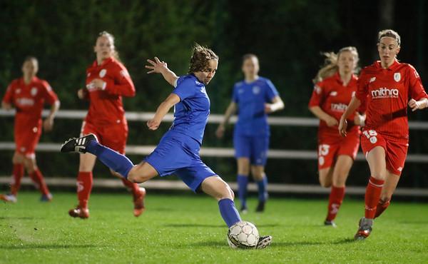 17-04-2018 - Liege - Standard Liege - KRC Genk Ladies - Riete Loos of KRC Genk Ladies - Charlotte Cranshoff of Standard De Liege